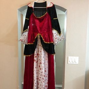 Sexy queen of hearts costume Sz: XL NWT